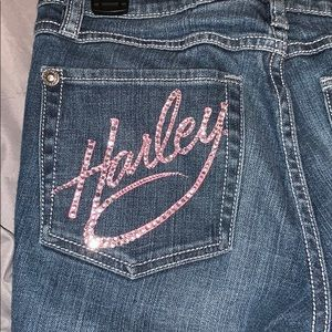 Harley Davidson Boot Cut Sequin Jeans